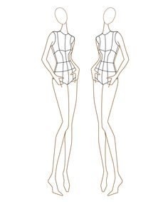 1000 images about croquis on pinterest female fashion for Textiles body templates