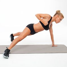 Celebrity trainer Tracy Anderson shows you how to get sculpted abs. These four powerful variations on the plank are designed to tighten and tone your middle. Do these moves six times a week for major results.