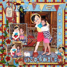 Disney Cruise Scrapbook Layout - Pinocchio