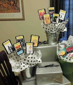 Broadway Theme shower Center pieces made by Cool Beans by L.B.