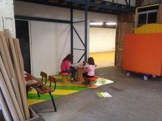 Un coin spécialement pour les enfants au Hang´Art des Créateurs a Tignieu (38)