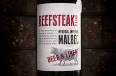 Beefsteak Club Malbec: Beef and Liberty 2013 - thanks Multilabels #wine