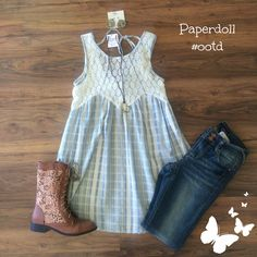 Plaid and lace?! Yes please!