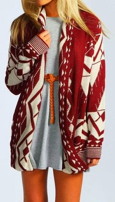 Red and white beatiful cardigan