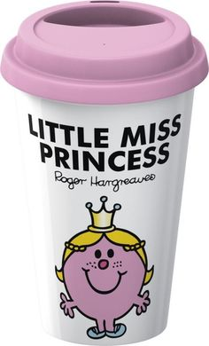 Mr Men Little Miss Princess Double Walled Porcelain Take Away Travel Mug