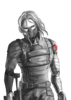 Winter Soldier-- BUCKY. I didn't know why but I really thought The Winter Soldier was hot, then when he took off his mask I knew why.