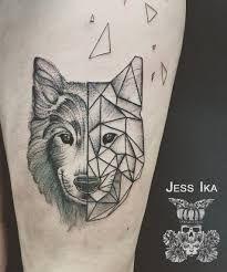 18 Meilleures Images Du Tableau Tatouage Loup Minimaliste