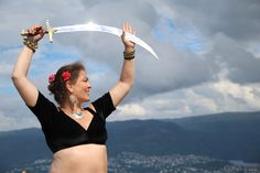 Anitra with her sword - ATS PHOTO: Karianne Ramstad