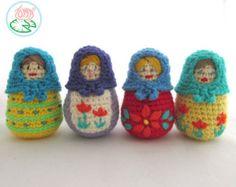 Muñeca de Matryoshka fieltro  personalizados bordados muñeca