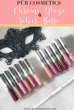 PÜR Cosmetics Chrome Glaze + Velvet Matte Lipsticks http://jasminemaria.com/2017/03/pur-cosmetics-chrome-glaze-velvet-matte-lipsticks/