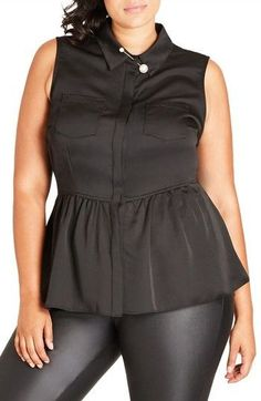 Plus Size Women's City Chic High/low Ruffle Tank #fashion #style #plussize #plussizefashion #ad #CommissionLink