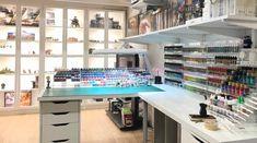 Recent paint additions have called for more paint racks : modelmakers Hobby Desk, Hobby Room, Desk Setup, Room Setup, Painting Station, Studio Setup, Studio Design, Studio Ideas, Dojo