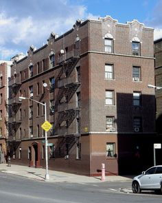 An apartment house in University Heights, the Bronx.