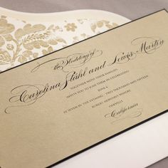 Luminesce with Geneva Flap envelopes eInvite Wedding Wedding Invitations BRIDES Fine Wedding Papers