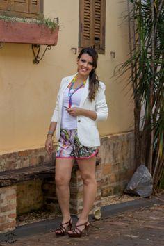 short boxer + blazer branco