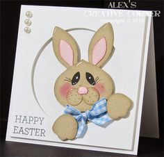 Alex's Creative Corner: Peek-A-Boo Bunny Card Easter Projects, Easter Crafts, Easter Ideas, Pretty Cards, Cute Cards, Punch Art Cards, Paper Punch, Planner, Kids Cards