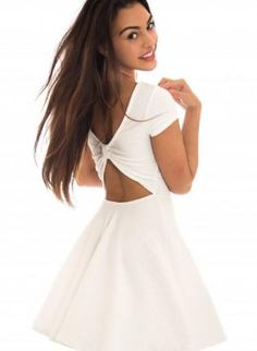 A boutique with the latest celebrity trends and fashion fashion at The Fashion Bible Grad Dresses, Dance Dresses, Cute Dresses, Dress Outfits, Short Dresses, Fashion Dresses, Fashion Bible, Girl Fashion, White Skater Dresses