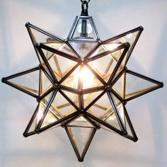 New home with comfortable charm moravian star light ceiling and moravian clear glass star light mozeypictures Gallery
