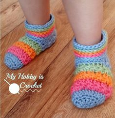 Rainbow Starlight Slippers | These rainbow delights are perfect for your little one's cold feet