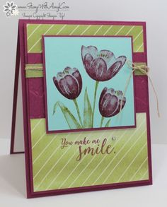 Stampin' Up! Tranquil Tulips for the Happy Inkin' Thursday Blog Hop