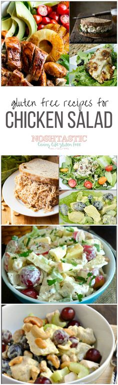 A great round up of delicious, easy, gluten free Chicken Salad recipes that you can make at home!