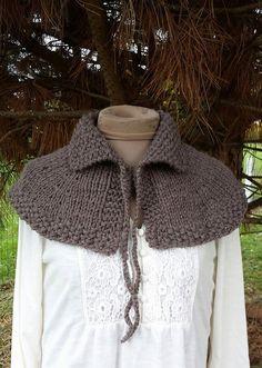 Hand Knit Outlander Highlands Capelet Shoulder Shawl by Shelleden