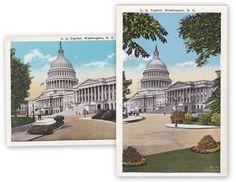U.S. Capitol Building 1920s Antique Postcards by EphemeraObscura