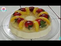 Gelatina combinada de frutas queso crema en capas / Cocina con Jenny - YouTube
