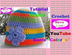 """Crochet Tutorial Gorro Bebes y Niños """"Colores"""" (Parte 1) Subtitles English & Deutsch"""