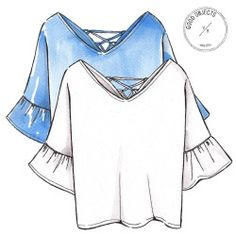 Good objects - white top and light blue top …. #goodobjects #illustration