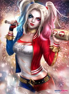 Harley Quinn - Suicide Squad by MadeleineInk.deviantart.com on @DeviantArt - More at https://pinterest.com/supergirlsart/ #dc #comics #fanart