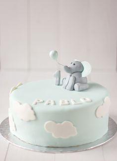 La Cocina de Carolina: Tarta de cumpleaños para niño de 1 año: tarta de elefante