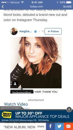 Meghan Trainor red hair