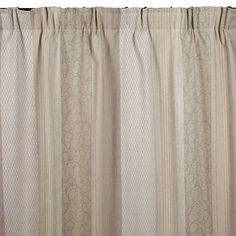 These highly natural curtains, featuring an interplay of vertical floral patterns, stripes and geometric motifs, hang perfectly.