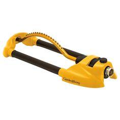 Melnor 3900 sq. ft. Metal Oscillating Sprinkler-Yellow, Yellow