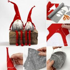 New Year's crafts in your hands Outside Christmas Decorations, Christmas Crafts To Sell, New Year's Crafts, Christmas Gnome, Christmas Centerpieces, Handmade Christmas, Christmas Trees, Cool Diy, Creations