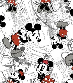 Licensed Cotton Fabric-Mickey Vintage Comic , , hi-res