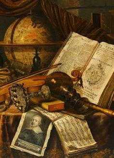 Edwaert Collier (Países Bajos, 1642-1708). Vanitas Still Life (detail).