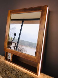 Timeless furnishings for elegance and function. Lighted Mirror, Mirror With Lights, Custom Lighting, Windows, Elegant, Classy, Chic, Window
