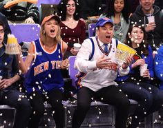 You might think Taylor Swift and Jimmy Fallon are lunatic Knicks fans, but really it's just another setup for hilarity on The Tonight Show.