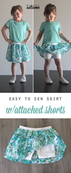 Learn how to sew a girl's skirt with attached shorts in this easy, step by step sewing tutorial. Add fabric to purchased shorts to make a cute skirt with attached shorts for a little girl – this looks so easy! This is a simple sewing tutorial. Go here to check …  Continue reading →