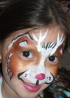 Reindeer Face Painting  Linda Schrenk/Amazing Face Painting by Linda, Jacksonville FL