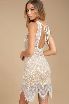 ab4d505b32 Lulus - Lulus Serious Love White Lace Bodycon Dress - AdoreWe.com Sheer  Bodycon Dress