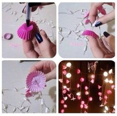 Bedroom Christmas Lights Decoration - DIY