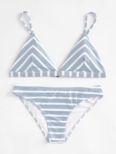 Shop Striped Print Triangle Bikini Set online. SheIn offers Striped Print Triangle Bikini Set & more to fit your fashionable needs.