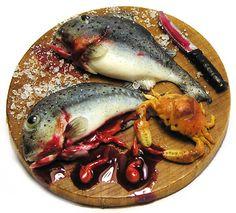Crab nibbling on fish guts | Flickr - Photo Sharing! kiva atkinson