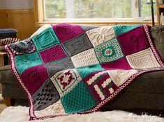Crochet Granny Square Design Creative Crossings Blanket Free Crochet Square Pattern Designs - The Way it Goes Square Free Crochet Pattern Granny Square Crochet Pattern, Crochet Squares, Crochet Granny, Free Crochet, Crochet Blocks, Crochet Afghans, Crochet Blankets, Crochet Stitches, Granny Square Häkelanleitung
