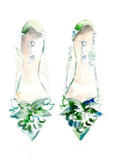Quite loose interpretation of Oscar de la Renta gorgeous Alyssa pumps. If you wish to know more about this special shoe and the great… Fashion Sketchbook, Fashion Sketches, Fashion Drawings, Fashion Illustrations, Fashion Dolls, Fashion Art, Fashion Design, Shoe Sketches, Flower Shoes