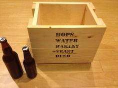 Beer Crate by CarpentrybyJON on Etsy, $35.00