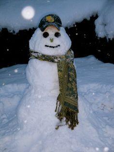 A Baylor Proud snowman! #SicEm